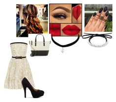 """Date #8"" by moorelillian98 ❤ liked on Polyvore featuring Valentino, Kate Spade and Fallon"