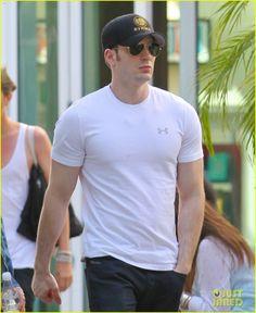 Minka Kelly Grabs Chris Evans' Chest at the Movies! | Chris Evans, Minka Kelly Photos | Just Jared