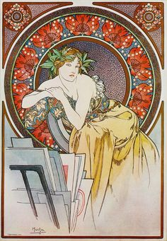 Alphonse Mucha - Girl Sitting in a Chair