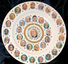 Vintage & Rare Presidents Plate Lyndon B. Johnson Era 1963-1968 Vintage Collectible Home Decor @ ditwtexas.webstoreplace.com