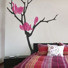 Fabulous Magnolia Flower Tree Decal Simple Shapes Wall Decals Furniture And  Accessories.