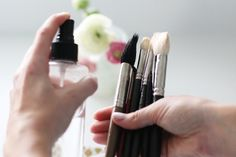 How the Glitter Guide recommends spring cleaning for your makeup brushes, saving your face and your wallet. Makeup Brush Dupes, How To Wash Makeup Brushes, How To Apply Makeup, Makeup Brush Set, Baby Shampoo, Aloe Vera Gel, Brush Cleaner, All Things Beauty, Spring Cleaning