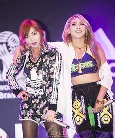 Minzy n' CL 2NE1 Adidas Event