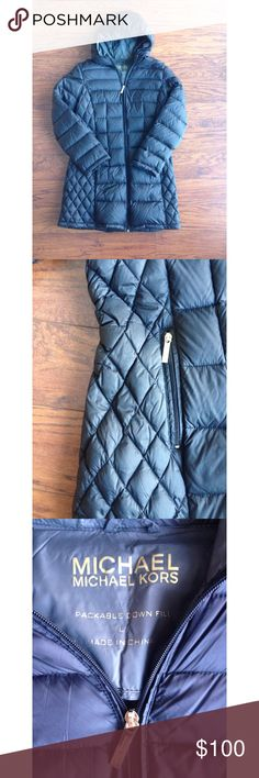 NWOT Michael Kors Down Parka In excellent condition, took tags off before trying on. Never worn. Medium weight, comfortable and very chic. A must-have for the upcoming fall and winter months! Michael Kors Jackets & Coats