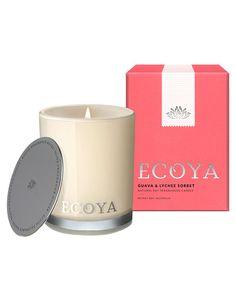 Ecoya Guava & Lychee Sorbet Mini Madison Jar, 80g product photo