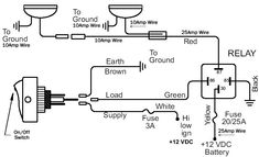 off road light wiring diagram automotive electronics rh pinterest com Arduino Relay Wiring 12 Volt Relay Wiring Diagrams