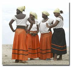 Afro Caribbean women, coastal town of Central America