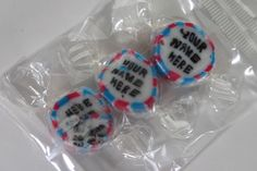 We can personalise sweets with your message - ideal for promoting your brand or occasion. Rock candy, favours, personalized sweets, wedding favours, edible, wedding rock sweets, sweets, rock sweets, customizable candy, sweet shop, sweetie, hen party, bridesmaid gift, wedding confectionery, Bonbonnier, party sweets, hard candy, unique gift, candy buffet, candy table, treats, winter wedding, summer wedding, spring wedding, autumn wedding, budget wedding