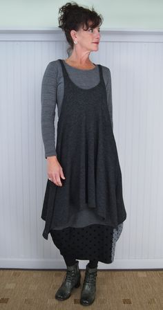 Alembika Suduku Skirt and Cool Tunic with Victoria Boot (Tee is a model's prop)