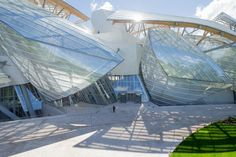 The Fondation Louis Vuitton, which is located in Paris's Bois de Boulogne—the former hunting ground for the kings of France that is now recreational parkland. Description from metropolismag.com. I searched for this on bing.com/images