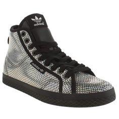 81d076390a4e04 womens adidas silver   black honey mid foil trainers