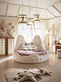 Seaside Style Girls Bedroom by Caroti - Latest Decor Sea . Seaside style girls bedroom by Caroti – Latest decor Seaside style girls bedroom by Bedroom Furniture Sets, Bedroom Sets, Bedroom Decor, Furniture Dolly, Furniture Stores, Cheap Furniture, Lego Bedroom, Furniture Companies, Bedroom Lighting