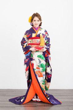 kimono 着物 引振袖  #japan #kimono #wedding #結婚式 #着物 #和装 #引振袖