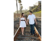 Lupita Sanchez and Daniel Garza's official engagement photo.