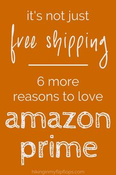 Think Amazon Prime is just free shipping? Think again! 6 more benefits from your Prime membership that will save you time and money #AmazonPrime #savemoney