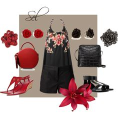 """""""Givenchy & MK in black & red"""" by selenitabr on Polyvore"""