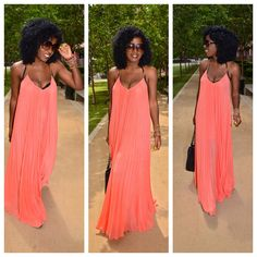 Today's Outfit: Pleated Maxi...