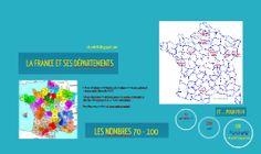 Départements de France et nombres 70-100