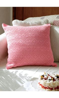 Filet Crochet Cushion Cover - free pattern diagram