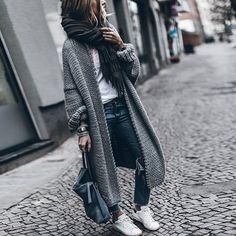 Bat-wing Sleeve Long Female Sweater For Women Loose Knitting Autumn Cardigan Sweaters Clothes Fashion New