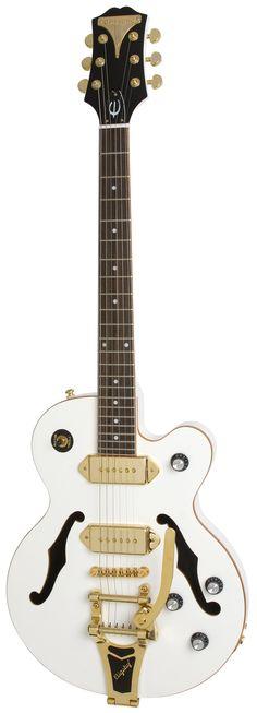 Epiphone Wildkat White Royale Guitare électrique avec Bigsby Tremolo Pearl White: Amazon.fr: Instruments de musique