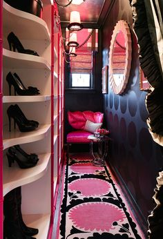 so glam! Beautifully Organized Closets and Dressing Rooms - Traditional Home®