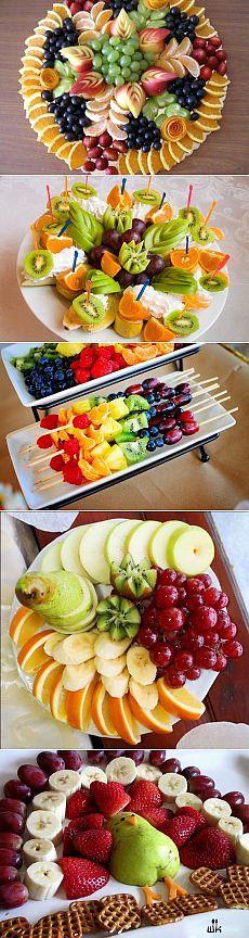 Красивое оформление фруктовой нарезки на праздничный стол!