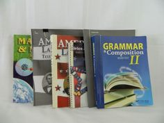 ABeka Grammar II,  America Land I Love & Matter & Motion History & Science 8th   #TextbookBundleKit