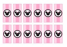 Free Pink Minnie Mouse Party Printables #pinkminniemouse #freeprintables #minicandybar