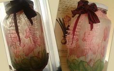 Befőttesüveg a kedvenc virágmintámmal
