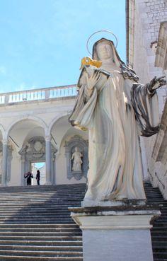 Statue at Monte Cassino Abbey, Ciociaria, Italy
