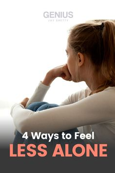 4 Tips to help you feel less alone in life. Visit to learn what to do when feeling lonely, how to embrace your pain and reprogram the ways in which you think about yourself. Jay Shetty's Genius Community is your lifelong partner in well-being, with curated workshops and meditations designed with you in mind. Find purpose, peace, and success with Genius. Feeling Left Out, How Are You Feeling, How To Handle Anxiety, Dealing With Loneliness, When You Feel Alone, Feeling Rejected, Lonliness, Stress Relief Tips, Finding Purpose