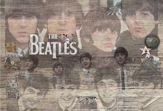 Schilderij Beatles - Loekie Grijspaardt - 120x80 cm