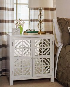 mirrored furniture - bedroom decor - mirrored bedroom cabinet  #mirrorfurniture #homedecor #mirror