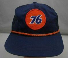 21620946f2b Vintage Union 76 Gas Station Hat Blue Stitched Snapback Trucker Cap ST197   Unbranded  Trucker