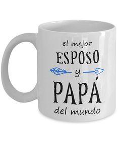 Mejor Esposo y papá Del Mundo Feliz Dia Del Padre taza