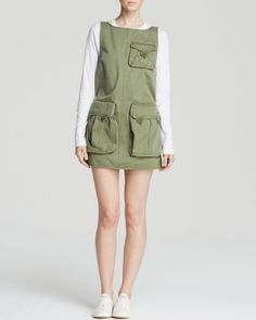 Marc By Marc Jacobs Dress - Classic Cotton Twin Pocket Shift
