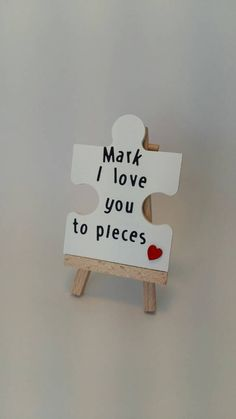 Valentines day gift, Valentines day gift for him, personalised, handmade gift, jigsaw piece, heart, gift for him by MadeWithLogueyLove on Etsy