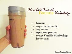 shakeology chocolate recipes - Google Search