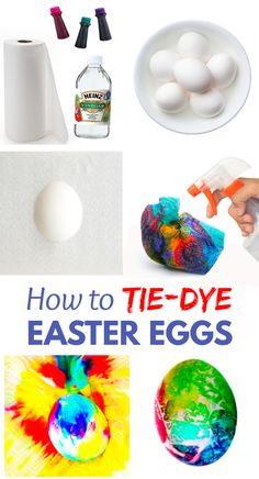 Tie-dye Easter eggs using food coloring and paper towels! This decorating idea is great for kids of all ages, and the Easter eggs produced are absolutely stunning! Creative Activities For Kids, Creative Arts And Crafts, Easter Activities, Free Activities, Toddler Activities, Learning Activities, Easter Crafts For Kids, Easter Ideas, Tie Dyed Easter Eggs