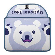 Minimalist Cute Polar Bear Cartoon Sleeve For MacBooks