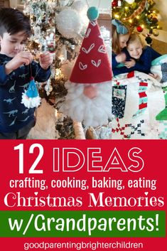 12 of the Most Amazing Christmas Grandparent Activities 12 of the Most Amazing Christmas Grandparent Activities Good Music Brighter Children goodmusicbright Grandparenting Christmas and grandparents are synonymous with nbsp hellip quotes for grandparents Christmas Traditions Kids, Grandparents Christmas Gifts, Christmas Activities For Families, Christmas Gift Decorations, Art Activities For Kids, Christmas Books, Holiday Activities, A Christmas Story, Family Traditions