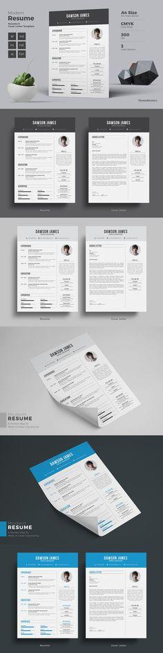 Resume cv word Resume cv, Professional resume template and - cv it professional