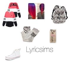 """@Tamiaming22"" by lyricsims ❤ liked on Polyvore featuring beauty, Victoria's Secret, Converse and Casetify"