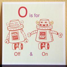 Robot alphabet prints - only $15.00 each!