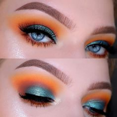 """WEBSTA @ tinahalada - The tutorial on this look is up on my channel! Go check it out, link in bio⬆️EYESHADOW▫️ @morphebrushes 35B Palette, Single Shadow in """"Flame""""@anastasiabeverlyhills Blazing Single Eyeshadow @shopvioletvoss Laura Lee Palette """"Smashlee""""LASHES▫️ @velourlashesofficial What The Fluff LashesHIGHLIGHTER✨ @ofracosmetics Beverly Hills Highlighter 