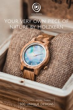 Watches made of Wood and Stone Jamel, Made Of Wood, Natural Materials, Mother Nature, You Got This, Unique, Watches, Men Cave, Organic Beauty