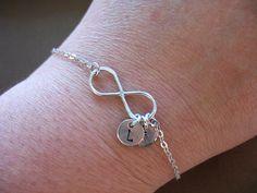 Personalize Infinity Bracelet Infinity Jewelry by ModernandChic, $29.00