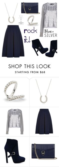 """""""Rock This Look: Blue and Silver"""" by littlehjewelry ❤ liked on Polyvore featuring moda, Love Moschino, Louche, Alexander McQueen, Aspinal of London, contestentry, colorchallenge, blueandsilver, pearljewelry y littlehjewelry"""