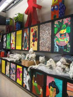 cupboard picture of art room. LOVE the art room setup and art advocacy ideas listed!